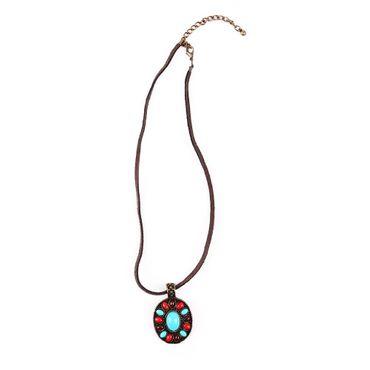 Ethno Stein Amulet Halskette – Bild 1