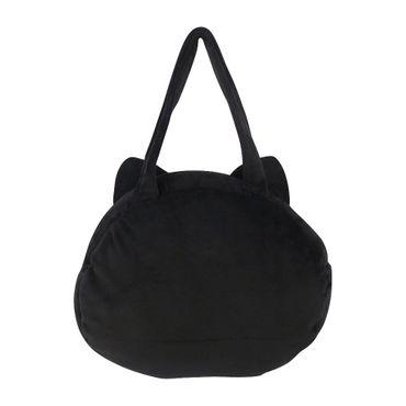 Schwarze Katze Plüschtasche – Bild 3