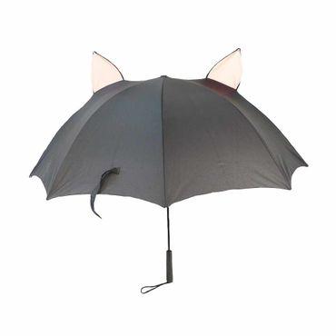 Lachender Kawaii Katzen Regenschirm – Bild 3