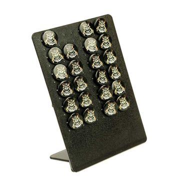 Rockabilly Ringförmige Ohrringe mit Go To Hell Totenkopf Aufdruck – Bild 1