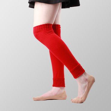 Uni Farbene Rote Beinwärmer