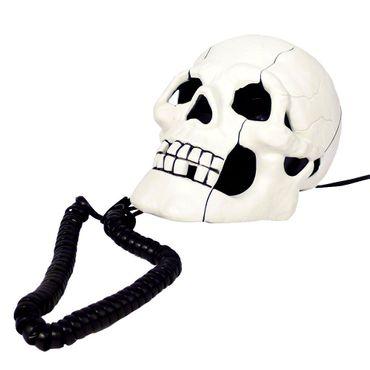 Totenschädel Telefon – Bild 1