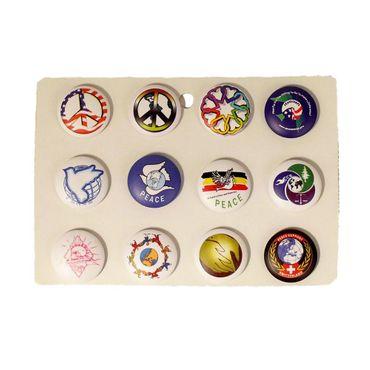 Peace Button Display Gemischt