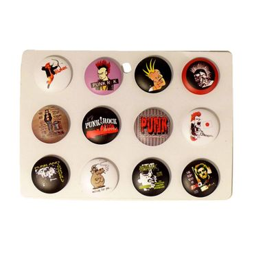Punk Button Display Gemischt