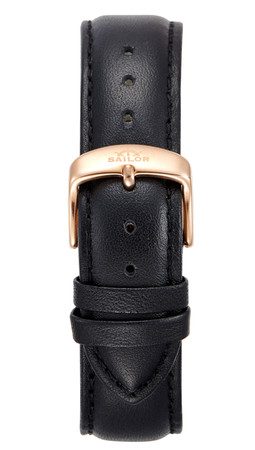 Leather strap Basic black