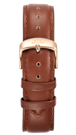 Lederarmband Sailor Uhr Basic brown