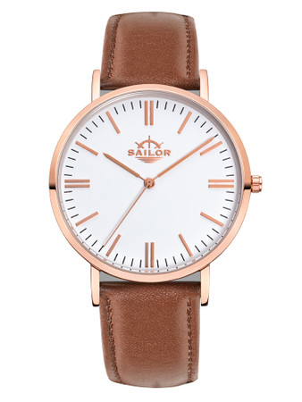 Sailor Uhr Classic Basic brown rosegold