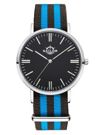 Sailor Uhr Classic Black Ocean silber
