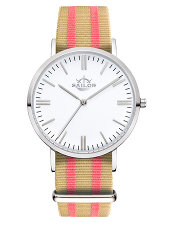Sailor Uhr Classic Banks silber