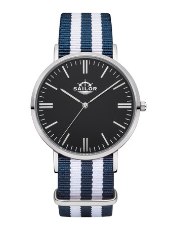 Sailor Uhr Classic Bay silber