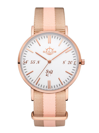 Sailor wrist watch Sylt limited edition rosègold/white SL101-2049-40