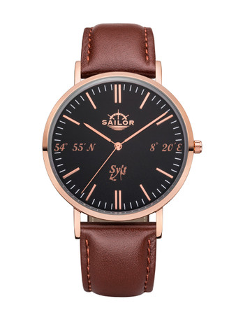 Sailor wrist watch Sylt limited edition rosègold/black SL101-2049-40s