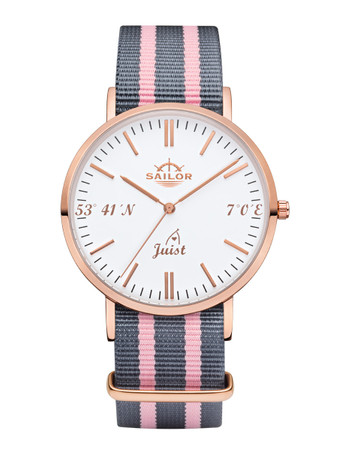 Sailor wrist watch Juist limited edition rosègold/white