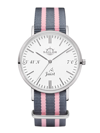 Sailor wrist watch Juist limited edition silver/white