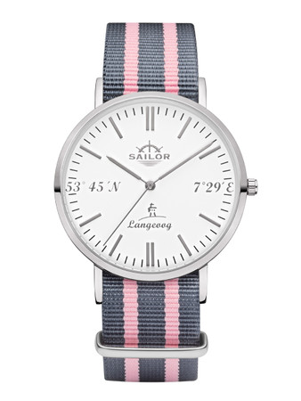 Sailor wrist watch Langeoog limited edition silver/white