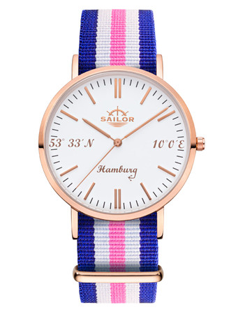Sailor Uhr Limited Edition Hamburg rosegold