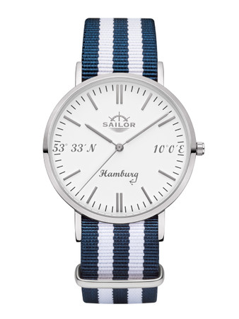 Sailor Uhr Limited Edition Hamburg silber