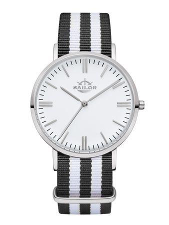 Sailor Uhr Classic Black Bay silber