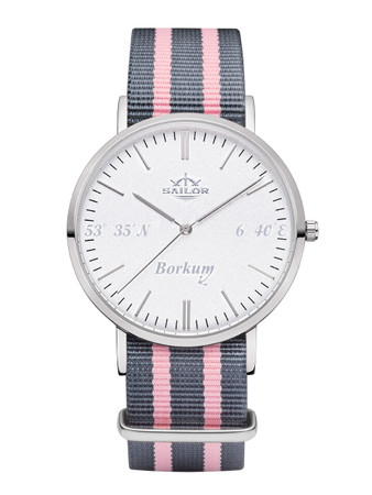 Sailor wrist watch Borkum limited edition silver/white