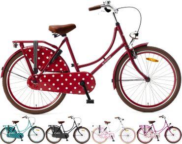 24 Zoll Mädchen Fahrrad Popal Omafiets OM24 ohne Schaltung