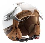 SOXON SP-325 Urban white - Jethelm LEDER Vespa Jet Roller Helm Motorradhelm weiß  001