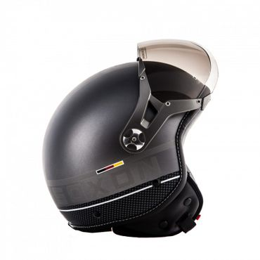 SOXON SP-325 PLUS Titanium (A) Jethelm Jet Vespa Retro Roller Helm Motorradhelm – Bild 3