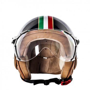 SOXON SP-325 Imola black - Jethelm ITALY Jet Roller Vespa Helm Motorradhelm – Bild 3