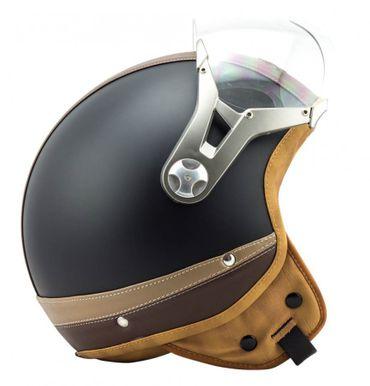 SOXON SP-325 Urban black - Jethelm LEDER Vespa Jet Roller Helm Motorradhelm – Bild 5