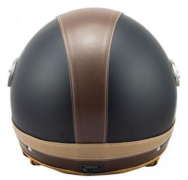 SOXON SP-325 Urban black - Jethelm LEDER Vespa Jet Roller Helm Motorradhelm – Bild 7