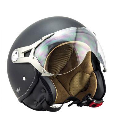 SOXON SP-325 night Jethelm Jet Vespa Retro Roller Helm Motorradhelm – Bild 2