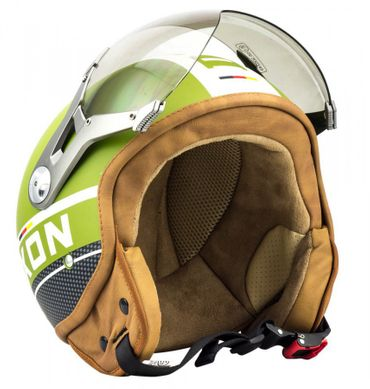 SOXON SP-325 PLUS army Jethelm Jet Vespa Retro Roller Helm Motorradhelm – Bild 1