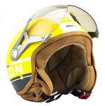 SOXON SP-325 PLUS yellow Jethelm Jet Vespa Retro Roller Helm gelb Motorradhelm