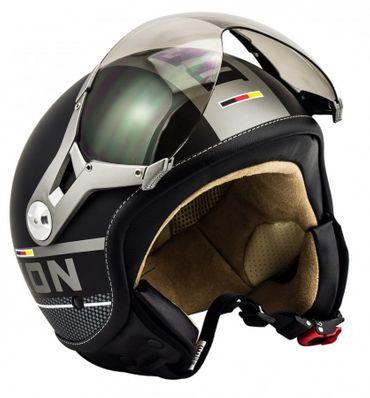 SOXON SP-325 PLUS black Jethelm Jet Sport Piaggio Roller Helm Motorradhelm – Bild 1