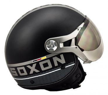 SOXON SP-325 PLUS black Jethelm Jet Sport Piaggio Roller Helm Motorradhelm – Bild 5