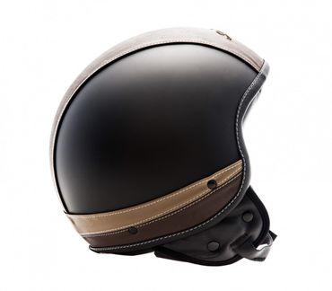 SOXON Sp-301 Urban black Jethelm Jet Vespa Mofa Rollerhelm Motorradhelm LEDER – Bild 3