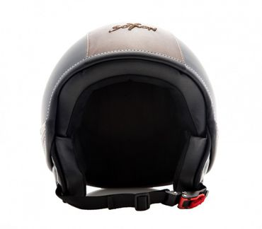 SOXON Sp-301 Urban black Jethelm Jet Vespa Mofa Rollerhelm Motorradhelm LEDER – Bild 2