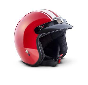 ARMOR AV-47 red Jet Vespa Roller Helm Motorradhelm + Schirm