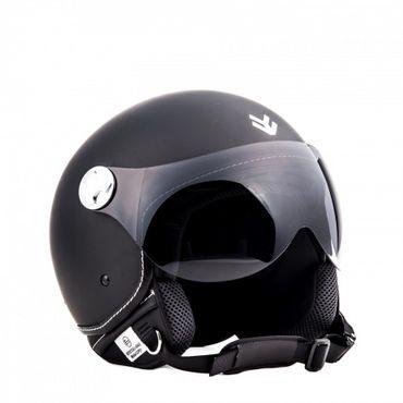 ARMOR Av-84 matt black Jethelm Jet Retro Vespa Motorradhelm Helm ECE