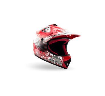 ARMOR AKC-49 red Cross Motorradhelm Kinder Kinderhelm Pocket Bike Crosshelm – Bild 1