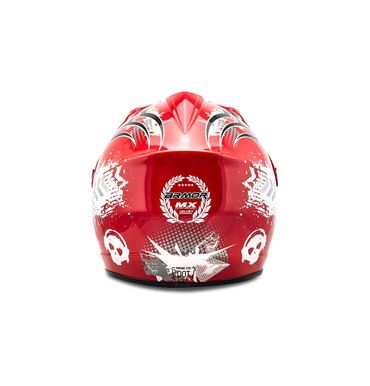 ARMOR AKC-49 red Cross Motorradhelm Kinder Kinderhelm Pocket Bike Crosshelm – Bild 4