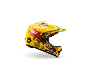 ARMOR AKC-49 yellow Cross Motorradhelm Kinder Kinderhelm Pocket Bike Crosshelm – Bild 3