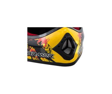 ARMOR AKC-49 yellow Cross Motorradhelm Kinder Kinderhelm Pocket Bike Crosshelm – Bild 6