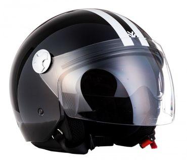 Armor AV-63 Fun shiny black Jethelm Jet Retro Vespa Motorradhelm Helm