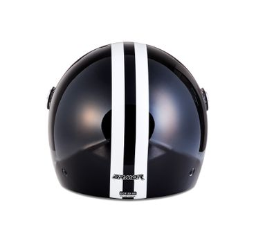 Armor AV-63 Fun shiny black Jethelm Jet Retro Vespa Motorradhelm Helm  – Bild 6