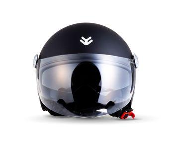 Armor AV-63 matt black Jethelm Jet Retro Vespa Motorradhelm Helm ECE  – Bild 5