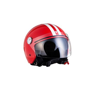 Armor AV-63 Fun red Jethelm Jet Retro Vespa Motorradhelm Helm ECE LEDER – Bild 3