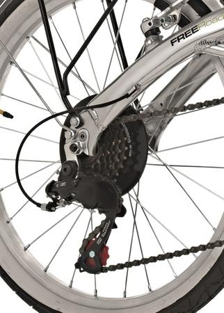 20 Velo Pliant Cinzia Car Bike Retro Velo Pliable Aluminium Shimano 6 Vitesses – Bild 7