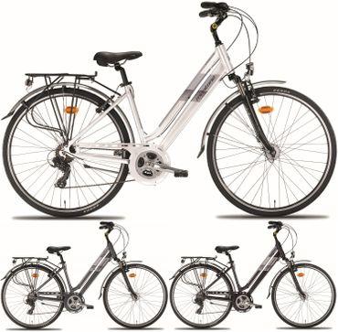 28 Zoll Damen City Fahrrad Montana Bluecity 21 Gang – Bild 1
