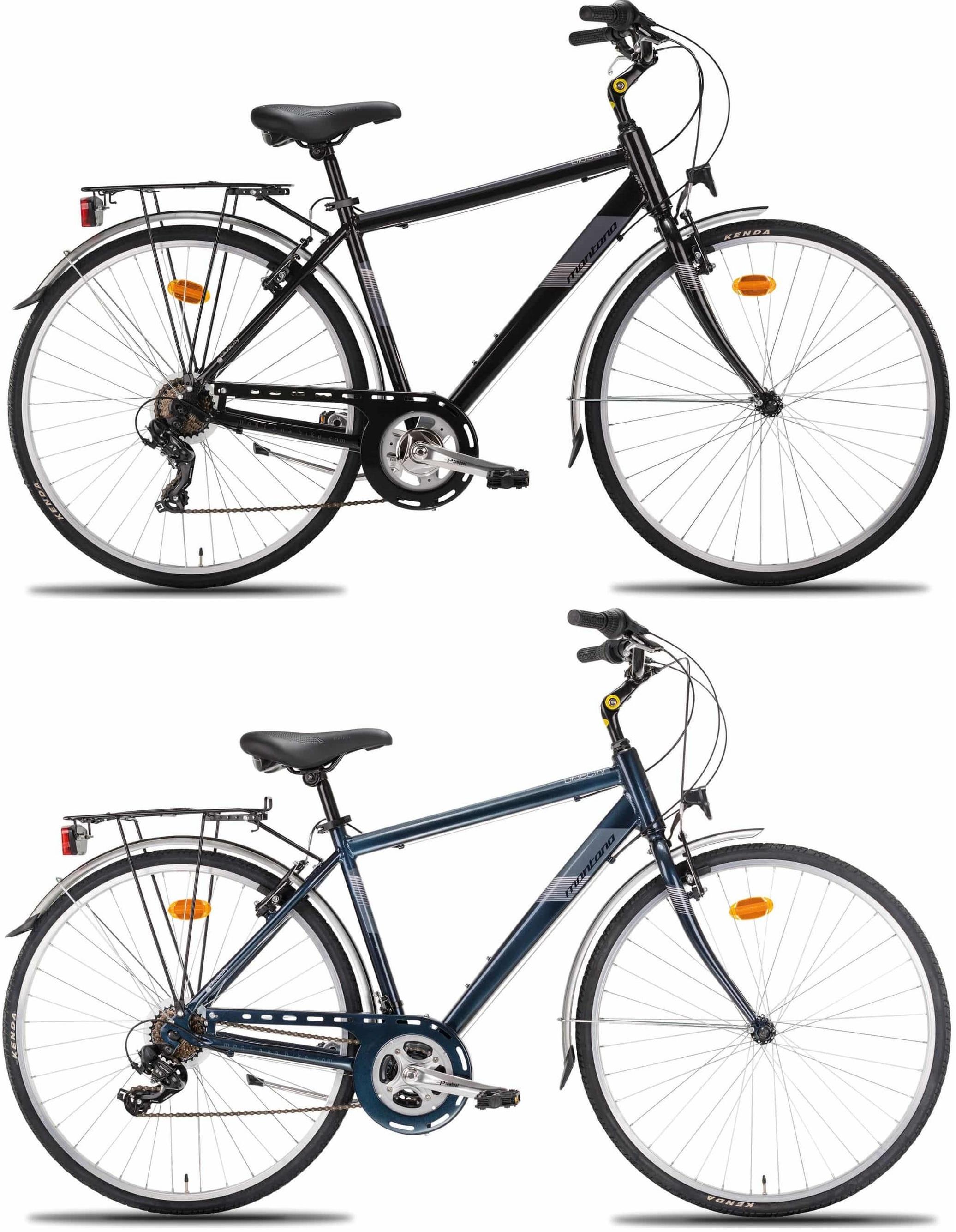 28 Zoll Herren City Fahrrad Montana Bluecity 7 Gang Fahrräder ...