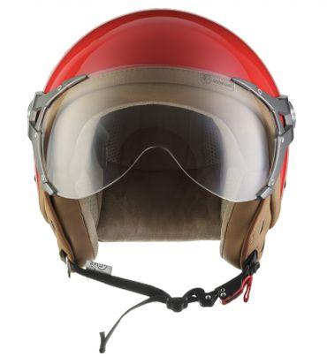 SOXON SP-325 glossy red Jethelm Jet Vespa Retro Roller Helm Sport Motorradhelm XS S M L XL – Bild 3